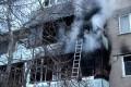 (foto) Un apartament din Durlești a luat foc în această dimineață. O femei și copilul ei au fost evacuați