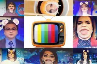 Prezentatorii TV din Moldova trecuți prin filtrele snapchatului. Angela Gonța, Sorina Obreja și Dorin Țurcanu cu urechiușe de iepuraș