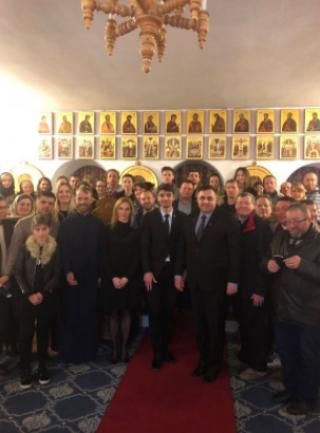 Secretarul de stat Veaceslav Șaramet la sfat cu comunitatea românească din Cantabria