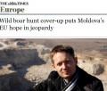 The Times: Vânătoarea de mistreți pune în pericol speranțele europene ale Republicii Moldova