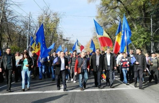 (foto) Străşeneni la mitingul Pro Europa de la Chişinău