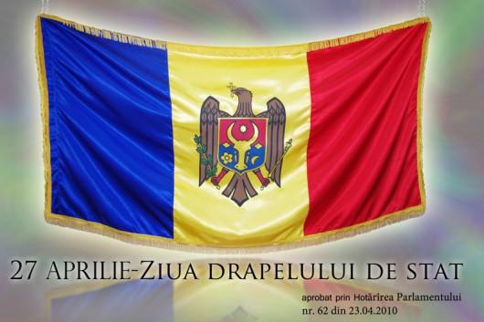(Galerie foto/video) Pe 27 aprilie la Strășeni a fost marcată Ziua Drapelului Național