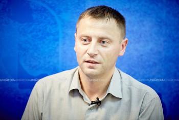 Ion Tăbîrță în studioul UNIMEDIA