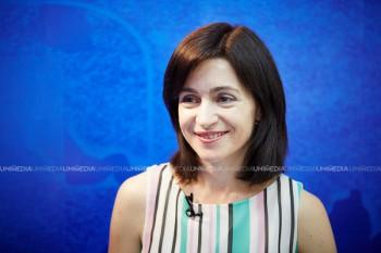 Maia Sandu în studioul UNIMEDIA