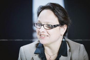 Iulia Badea Guéritée în studioul UNIMEDIA