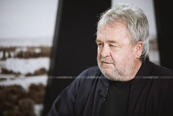 Valeriu Jereghi în studioul UNIMEDIA