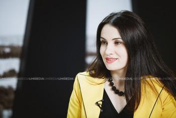 Violeta Gașițoi în studioul UNIMEDIA