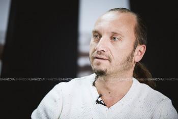 Anatol Durbală în studioul UNIMEDIA