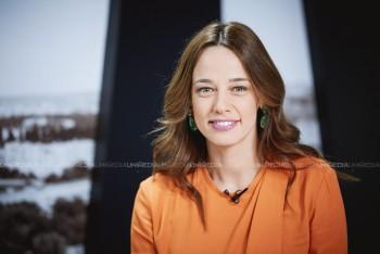 Andreea Raicu în studioul UNIMEDIA
