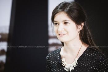 Xenia Munteanu în studioul UNIMEDIA