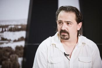 Igor Cobileanski în studioul UNIMEDIA