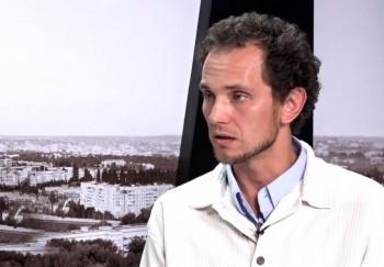 Oleg Brega în studioul UNIMEDIA