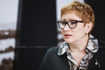 Angela Colațchi în studioul UNIMEDIA