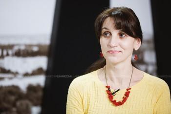 Daniela Vacarciuc în studioul UNIMEDIA