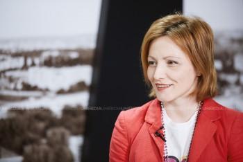 Natalia Ghilașcu în studioul UNIMEDIA
