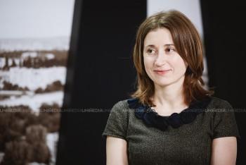 Nadejda Hriptievschi în studioul UNIMEDIA