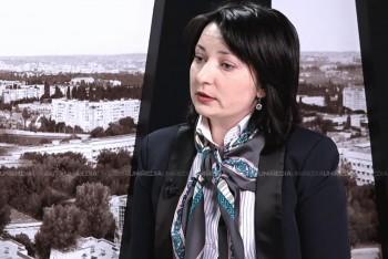 Olga Coptu în studioul UNIMEDIA