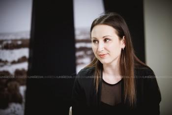 Cornelia Călin în studioul UNIMEDIA