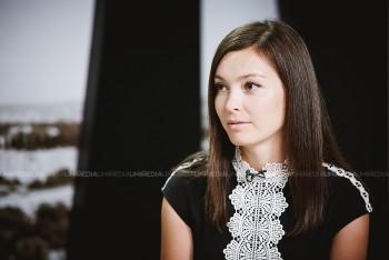 Victoria Morozov în studioul UNIMEDIA