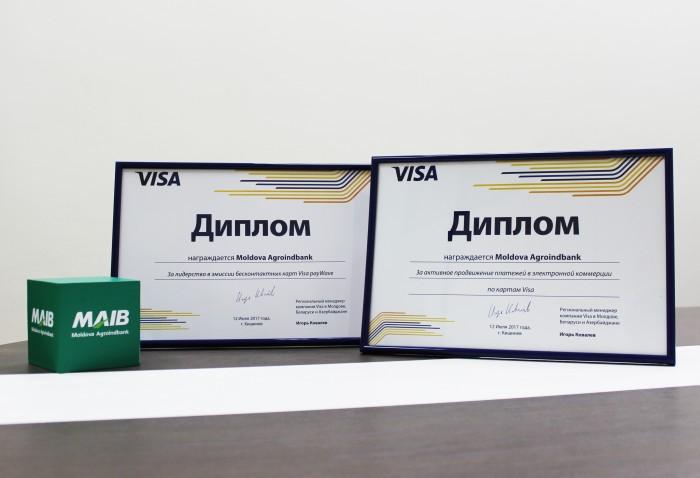 Activitatea MAIB, apreciată de Visa