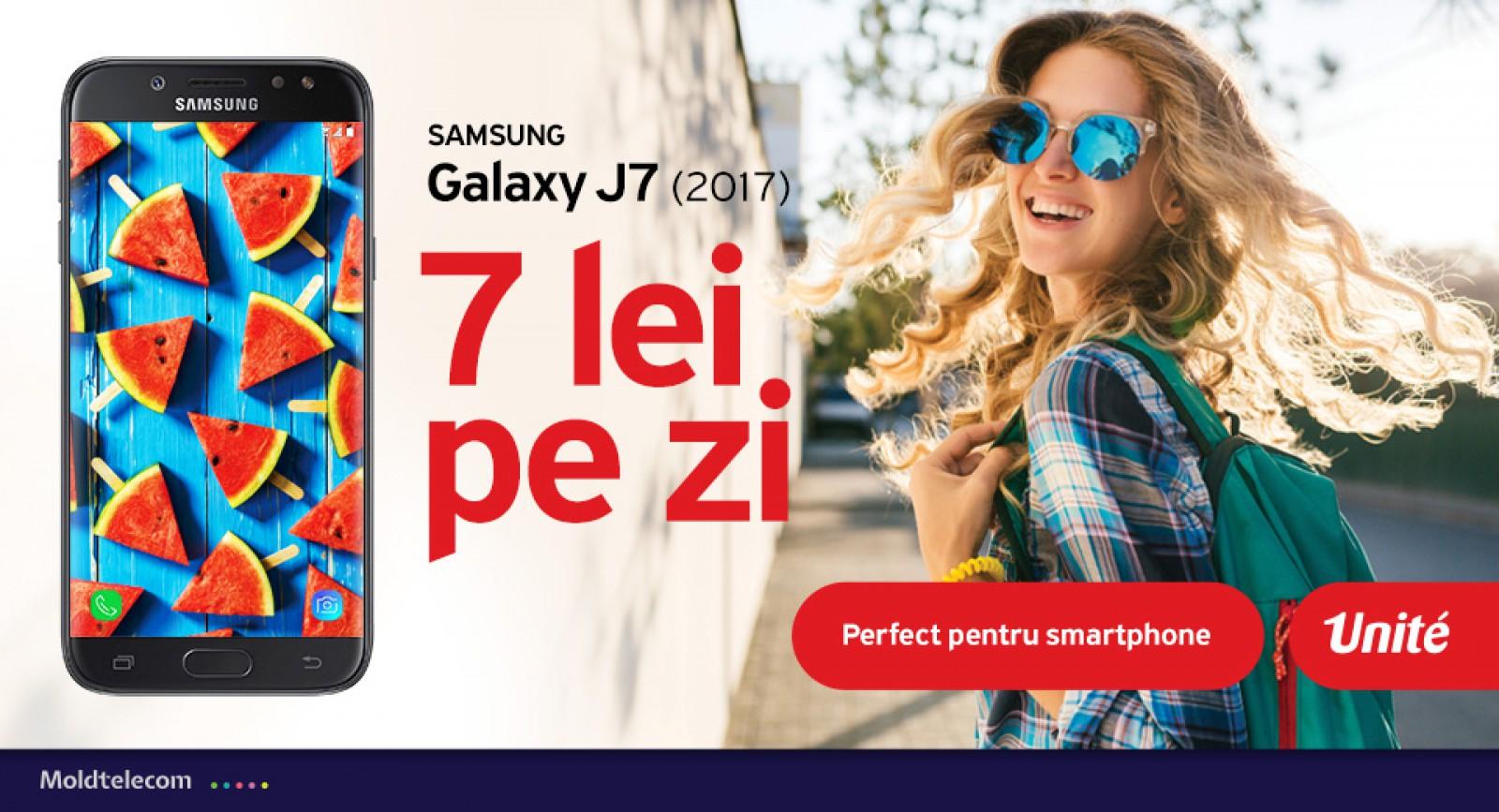 Alege abonamentele Unite şi fii în trend cu un nou Samsung Galaxy J7, la doar 7 lei pe zi