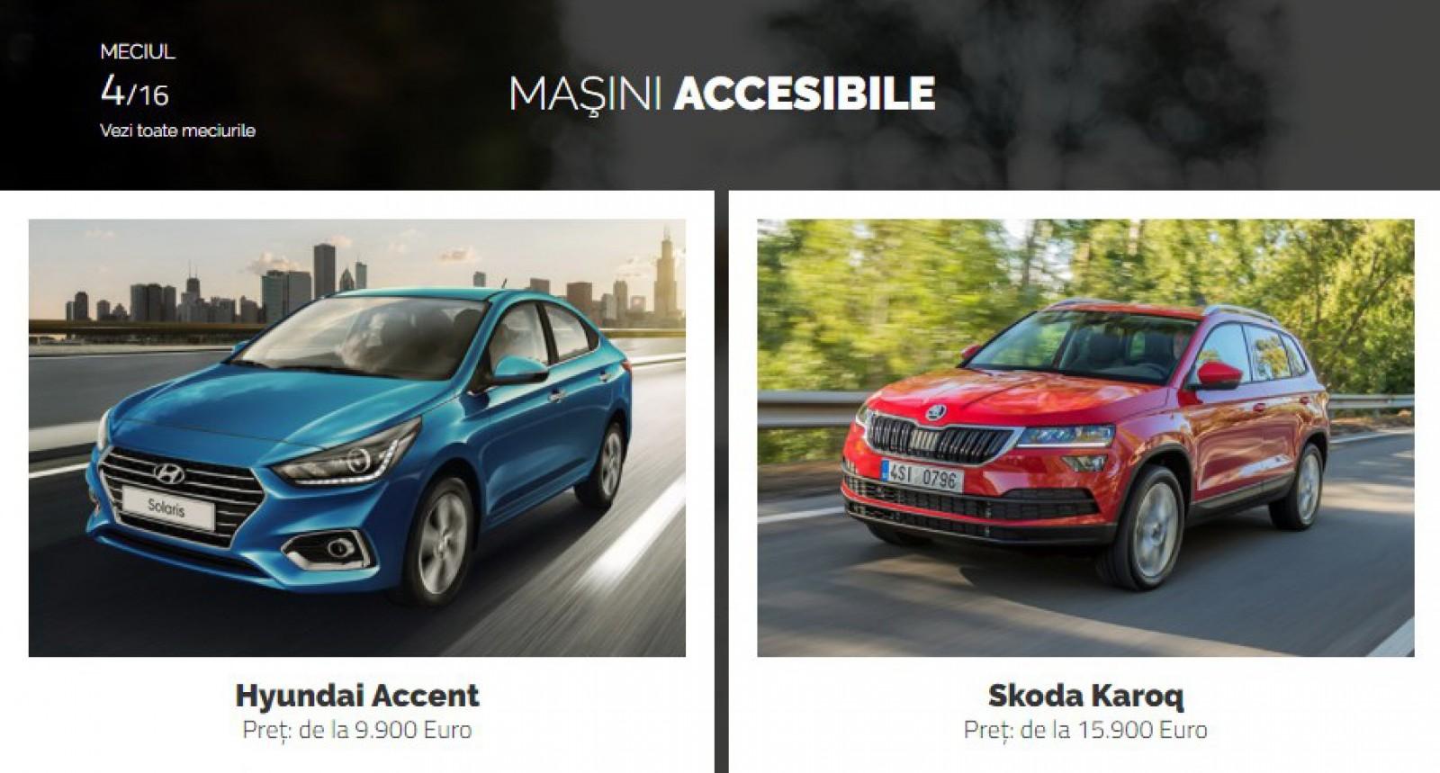 AUTOVOT MOLDOVA 2018! Duelul de astăzi: Hyundai Accent vs Skoda Karoq!