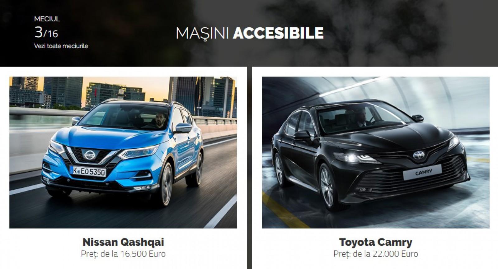 AUTOVOT MOLDOVA 2018! Duelul de astăzi: Nissan Qashqai vs Toyota Camry!