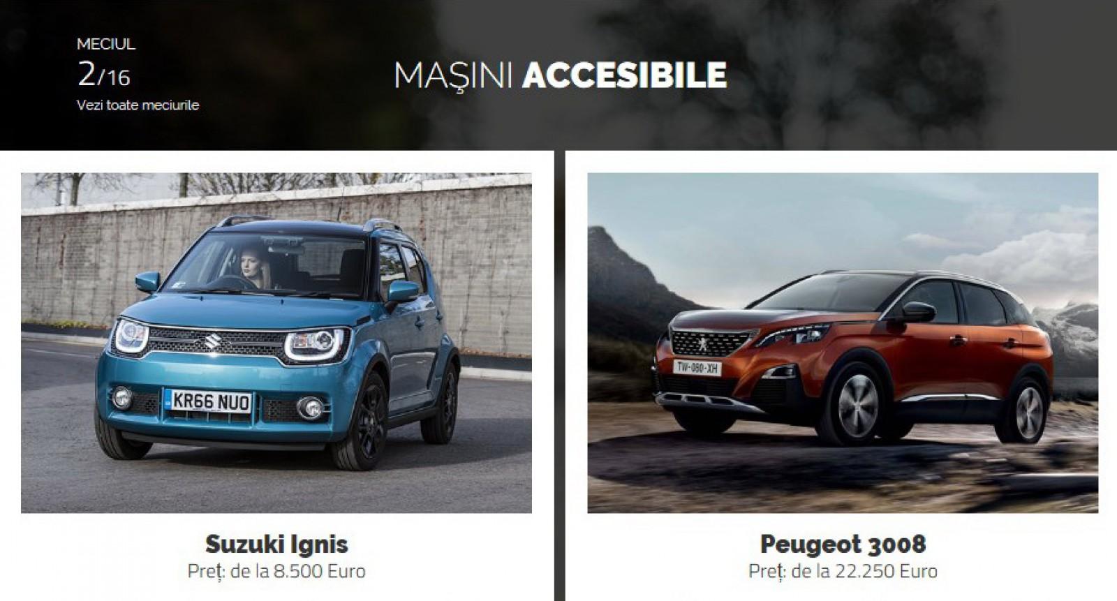 AUTOVOT MOLDOVA 2018! Duelul de astăzi: Suzuki Ignis vs Peugeot 3008!