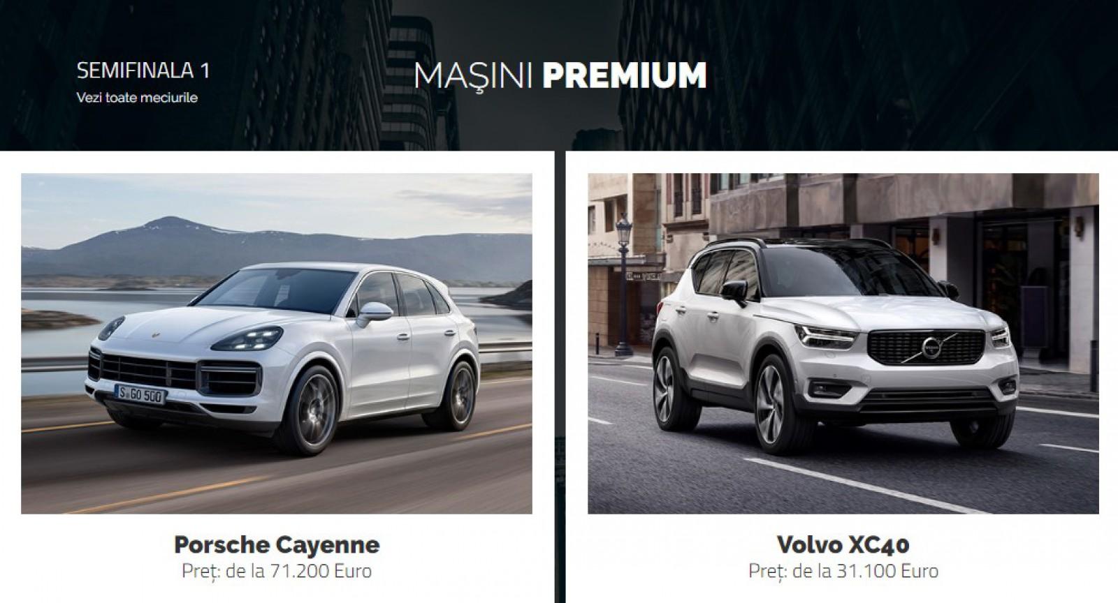 AUTOVOT MOLDOVA 2018! Semifinala I din categoria Maşini Premium: Porsche Cayenne vs Volvo XC40!