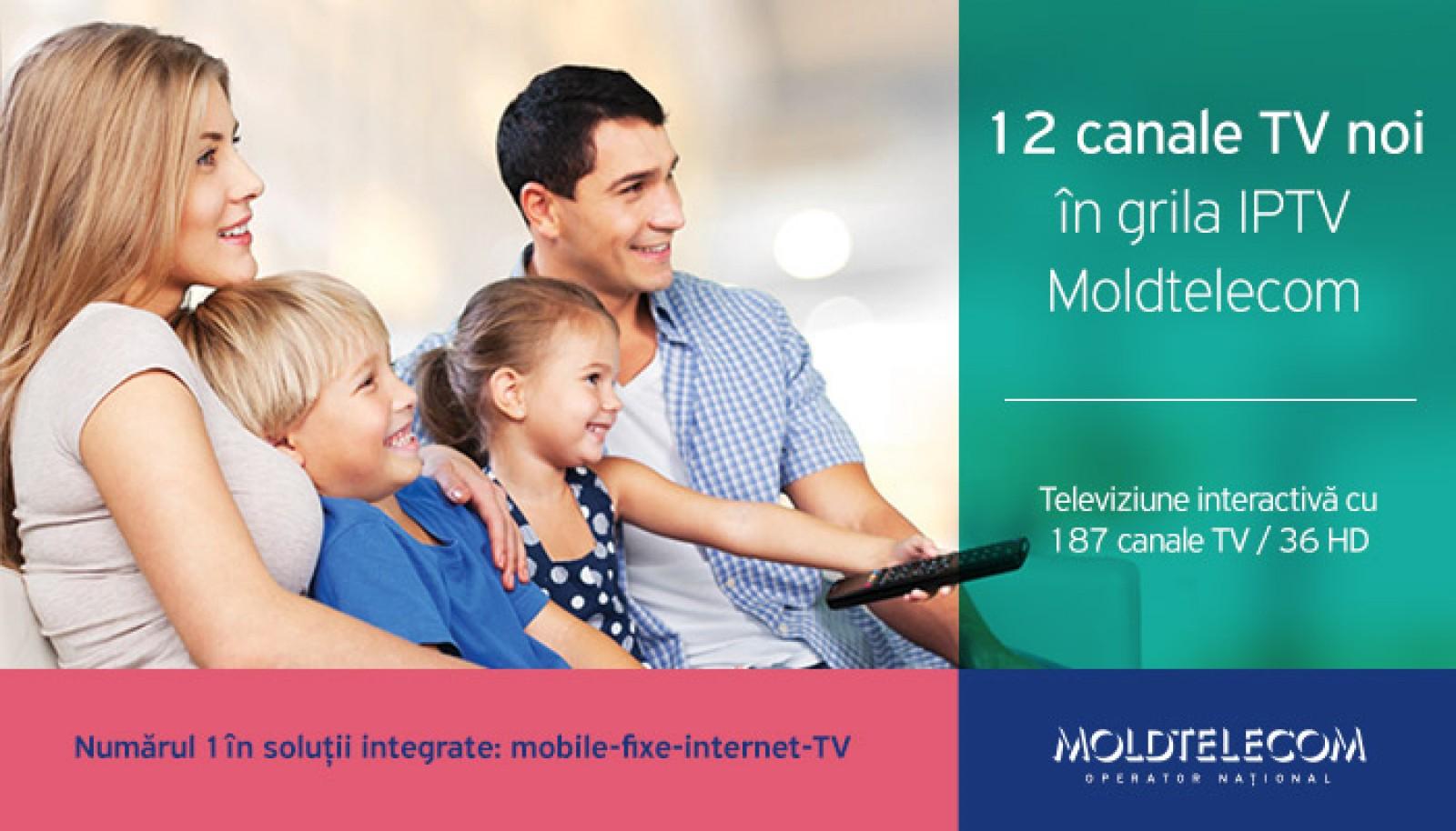 Bucură-te de posturi TV Premium noi, incluse în grila de canale TV Moldtelecom