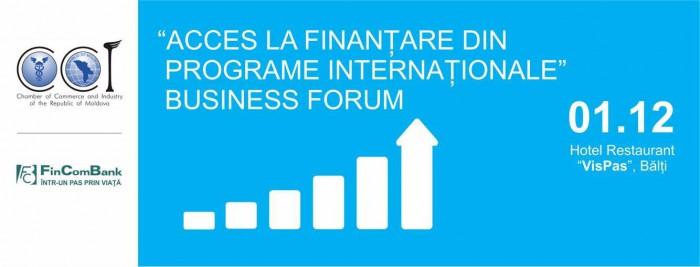 """Cea de-a 2-a ediție a forumului """"Acces la finanțare din programele internaționale"""" are loc la Bălți"""