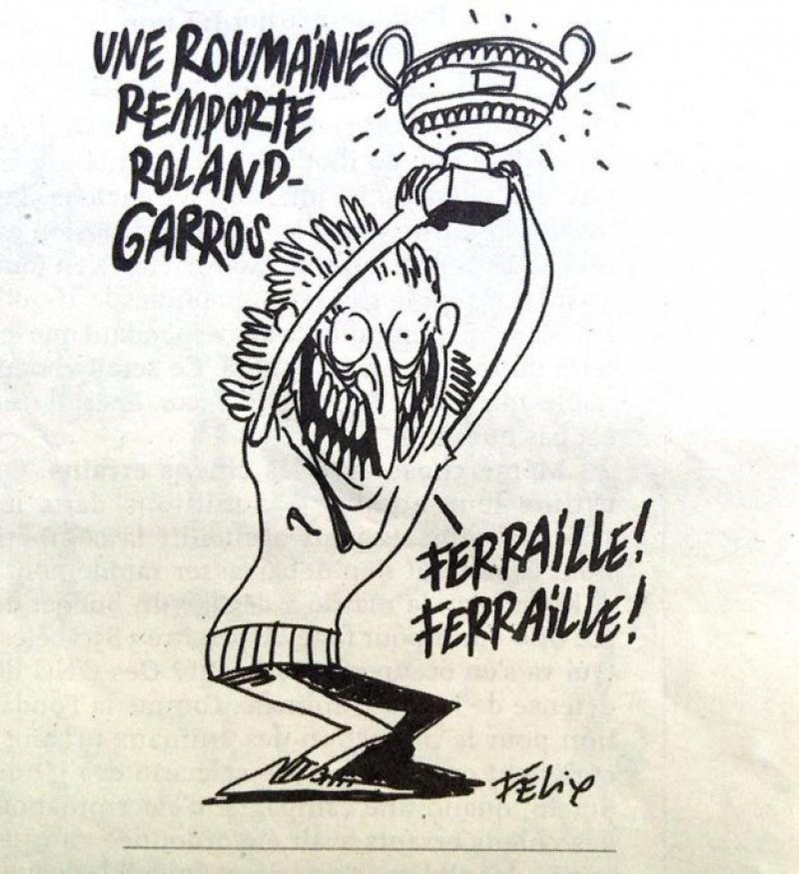 Charlie Hebdo va fi dată în judecată pentru caricatura cu Simona Halep