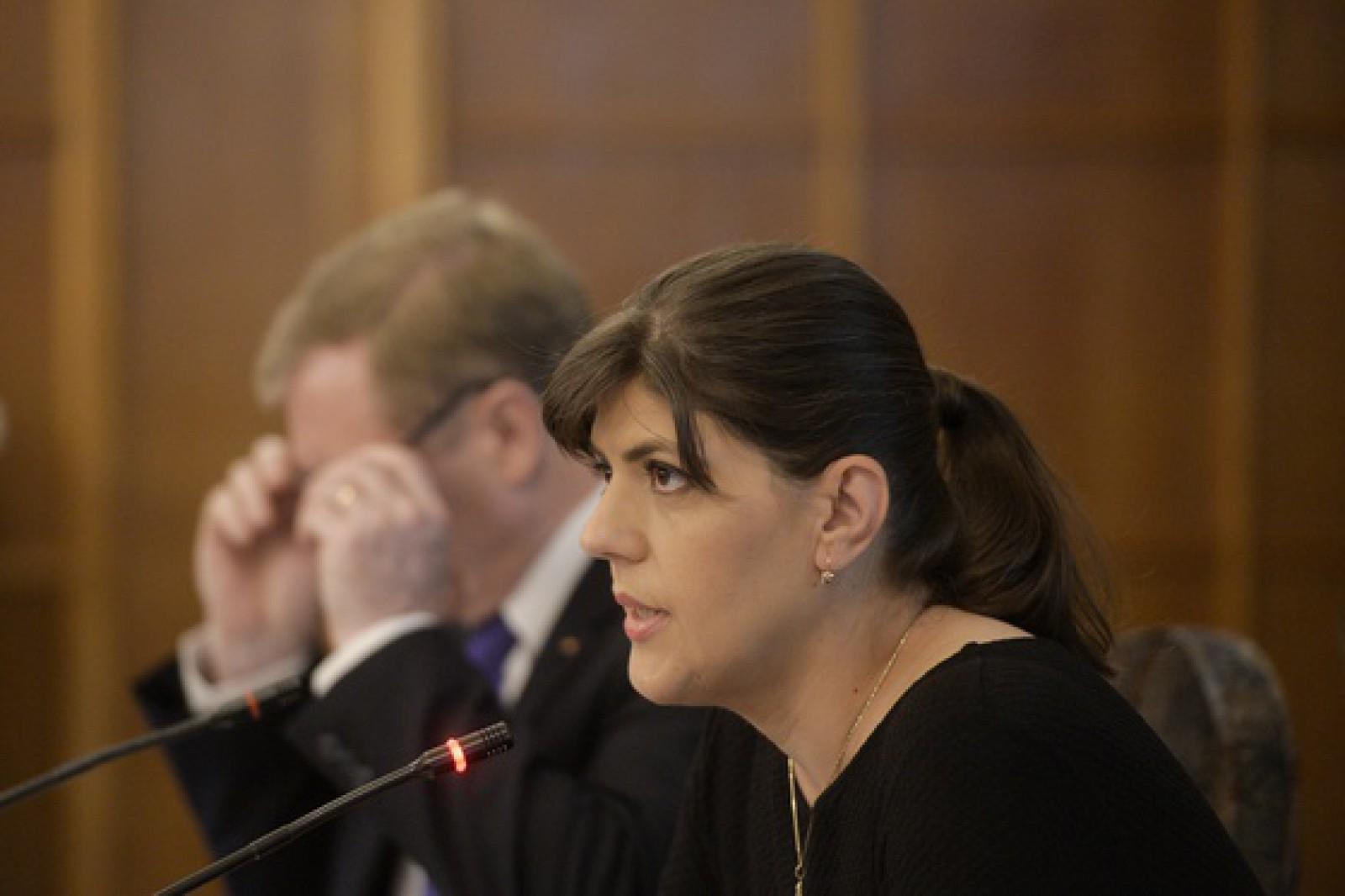 Codruţa Kovesi a fost prezentă la numirea Ancăi Jurma la şefia DNA, însă a refuzat să vină în faţa presei