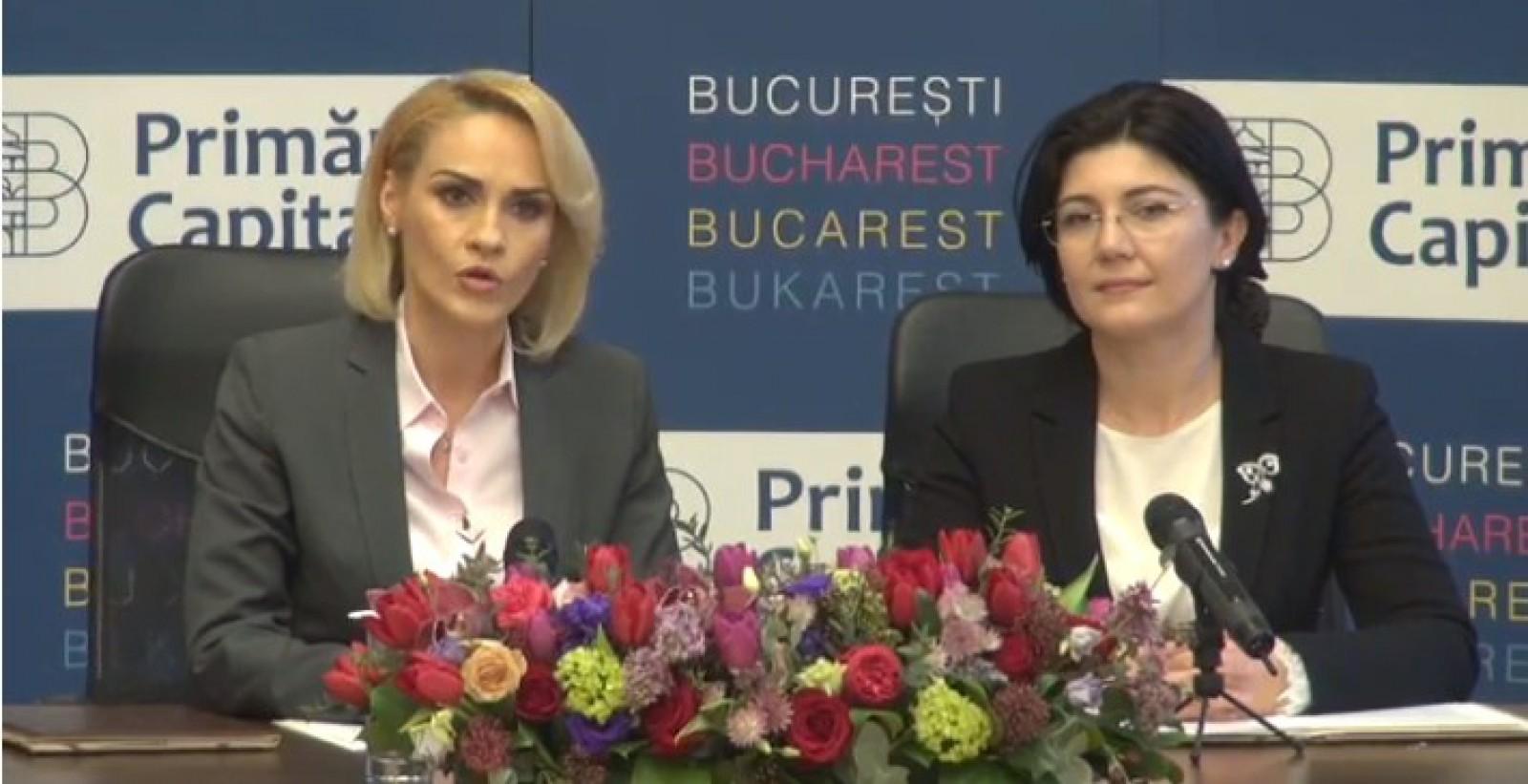 (video/update) Gabriela Firea și Silvia Radu susțin o conferință de presă la București: Românii vor dona două autobuze pentru capitală