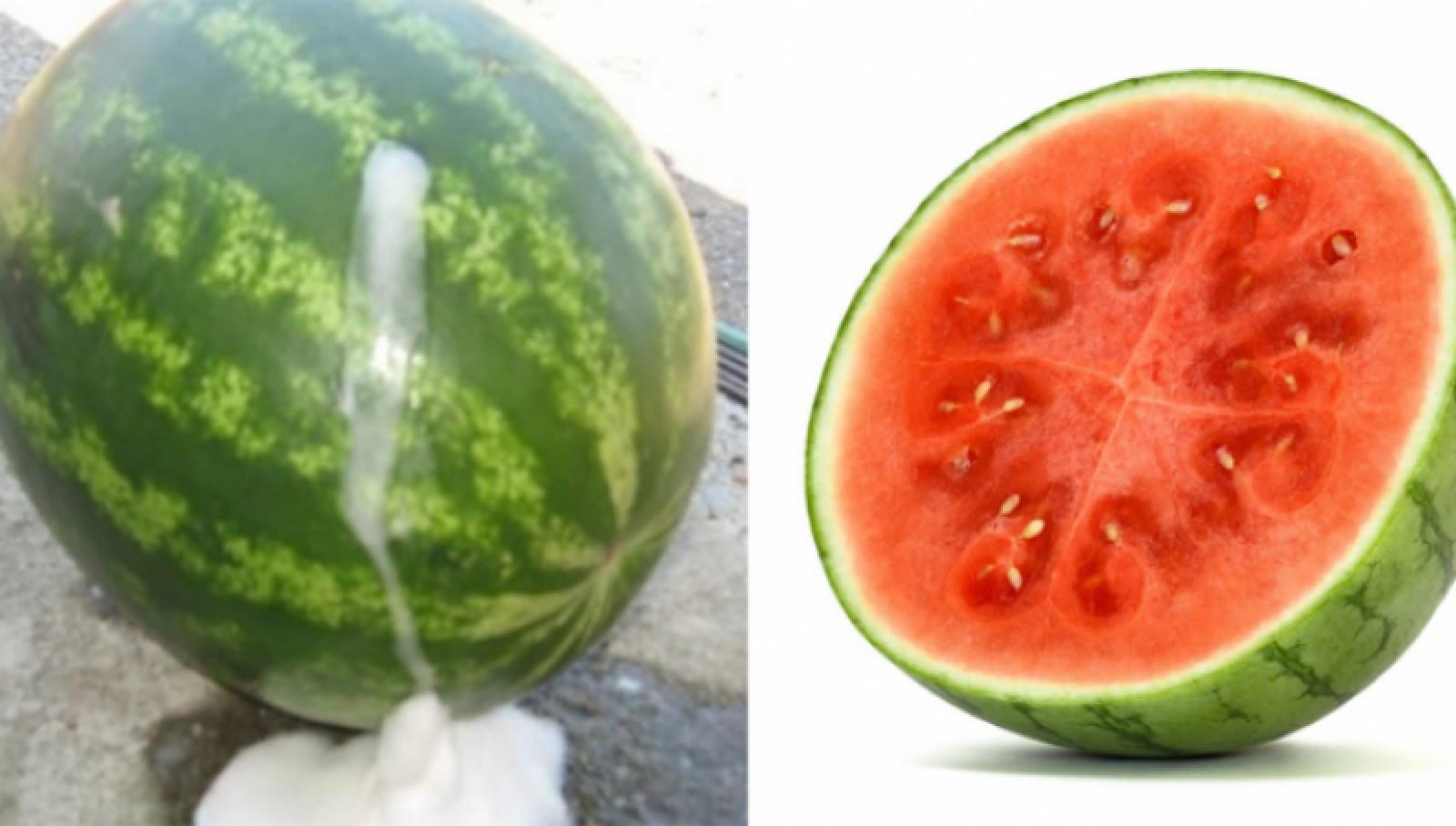 Cum recunoşti un pepene verde injectat