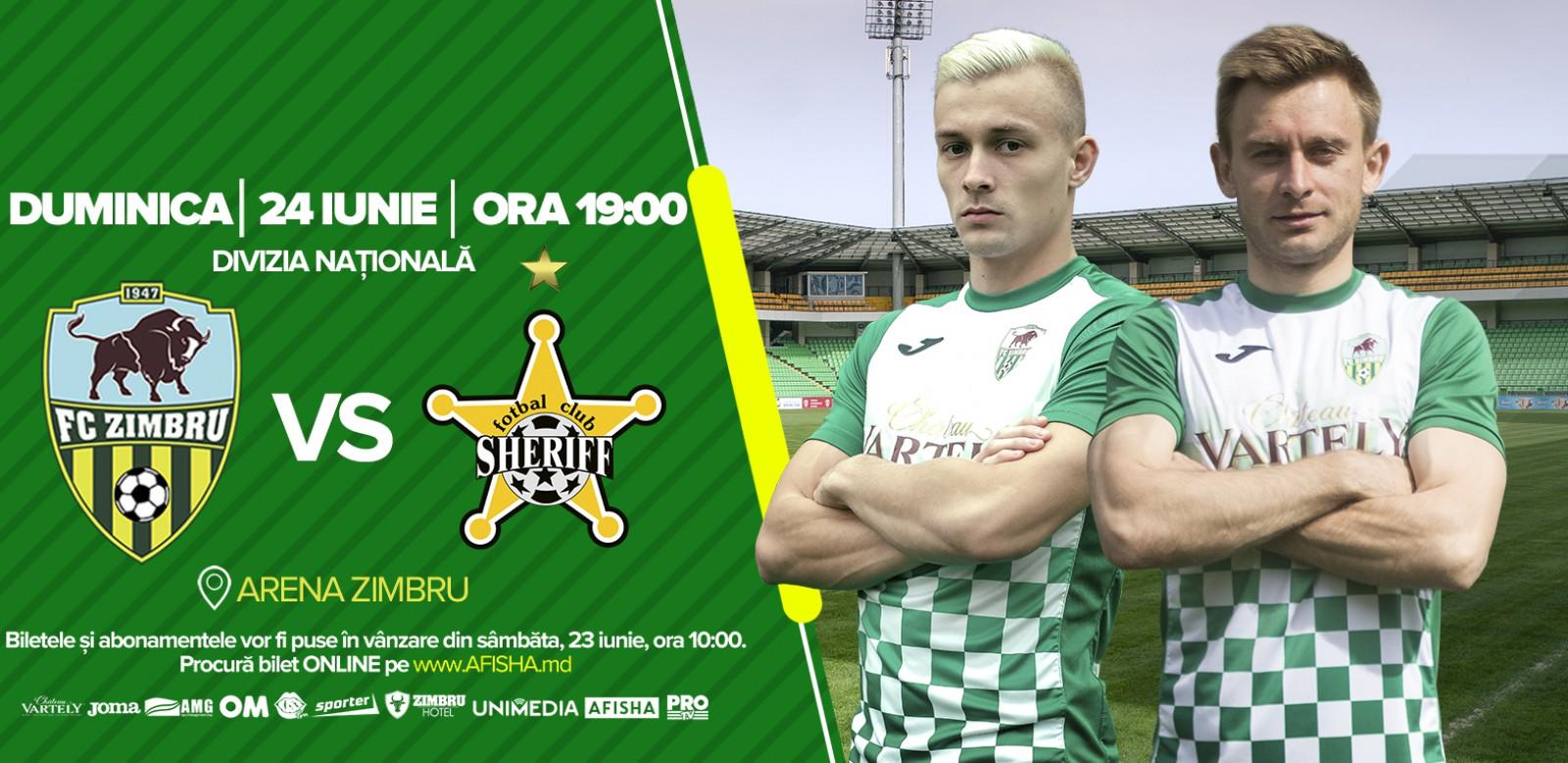 Derby-ul fotbalului moldovenesc se joacă duminică. Zimbru Chișinău primește vizita celor de la Sheriff Tiraspol