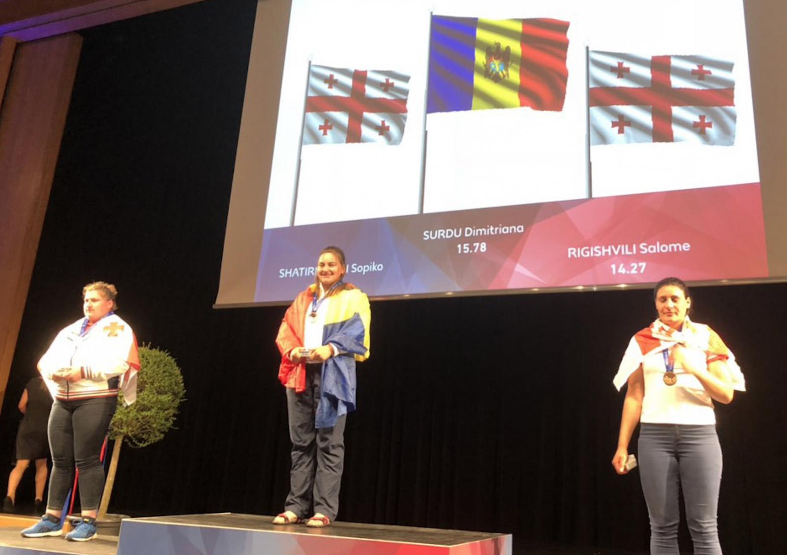 Dimitriana Surdu a cucerit două medalii de aur la Campionatul țărilor mici la atletism