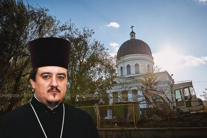(doc) Secretarul Mitropoliei Moldovei, Vadim Cheibaș, este proprietarul construcției din spatele catedralei