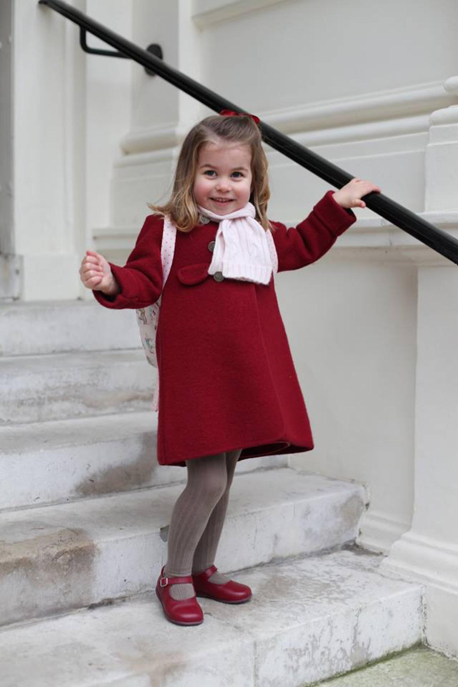 Emoţii în familia regală britanică: Prinţesa Charlotte, în prima zi la grădiniţă