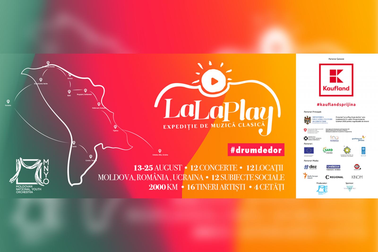 """Expediția de Muzică Clasică """"La La Play"""" ediția 2018. Șaisprezece tineri muzicieni, jurnaliști, fotografi și regizori vor traversa 2000 km"""