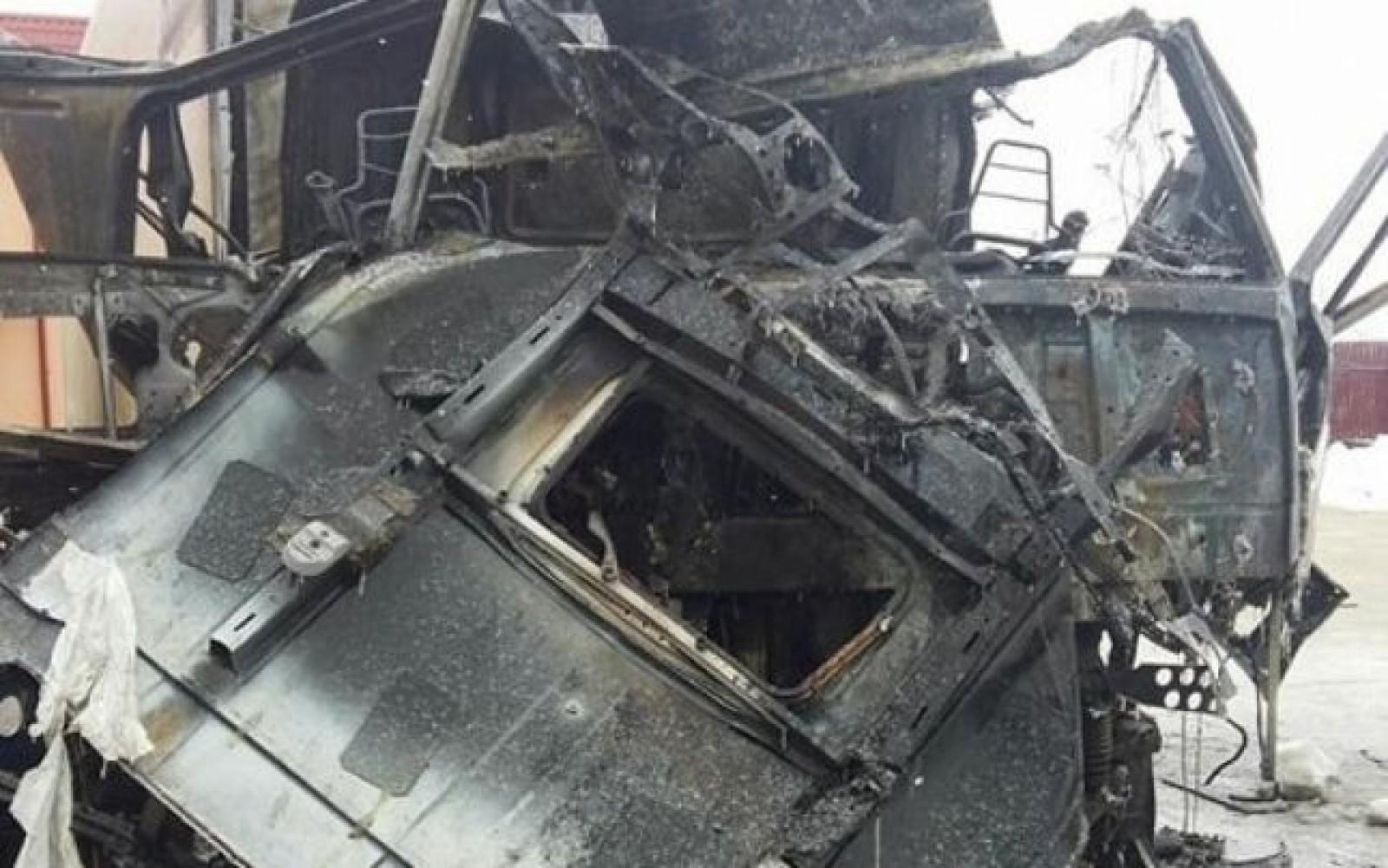 Explozie în cabina unui autotren din România: Doi moldoveni au ajuns în stare gravă la spital