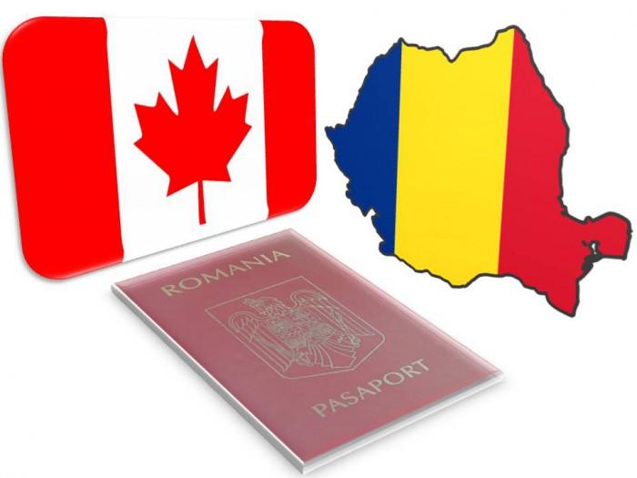 Fără vize în Canada pentru cetățenii cu pașaport românesc