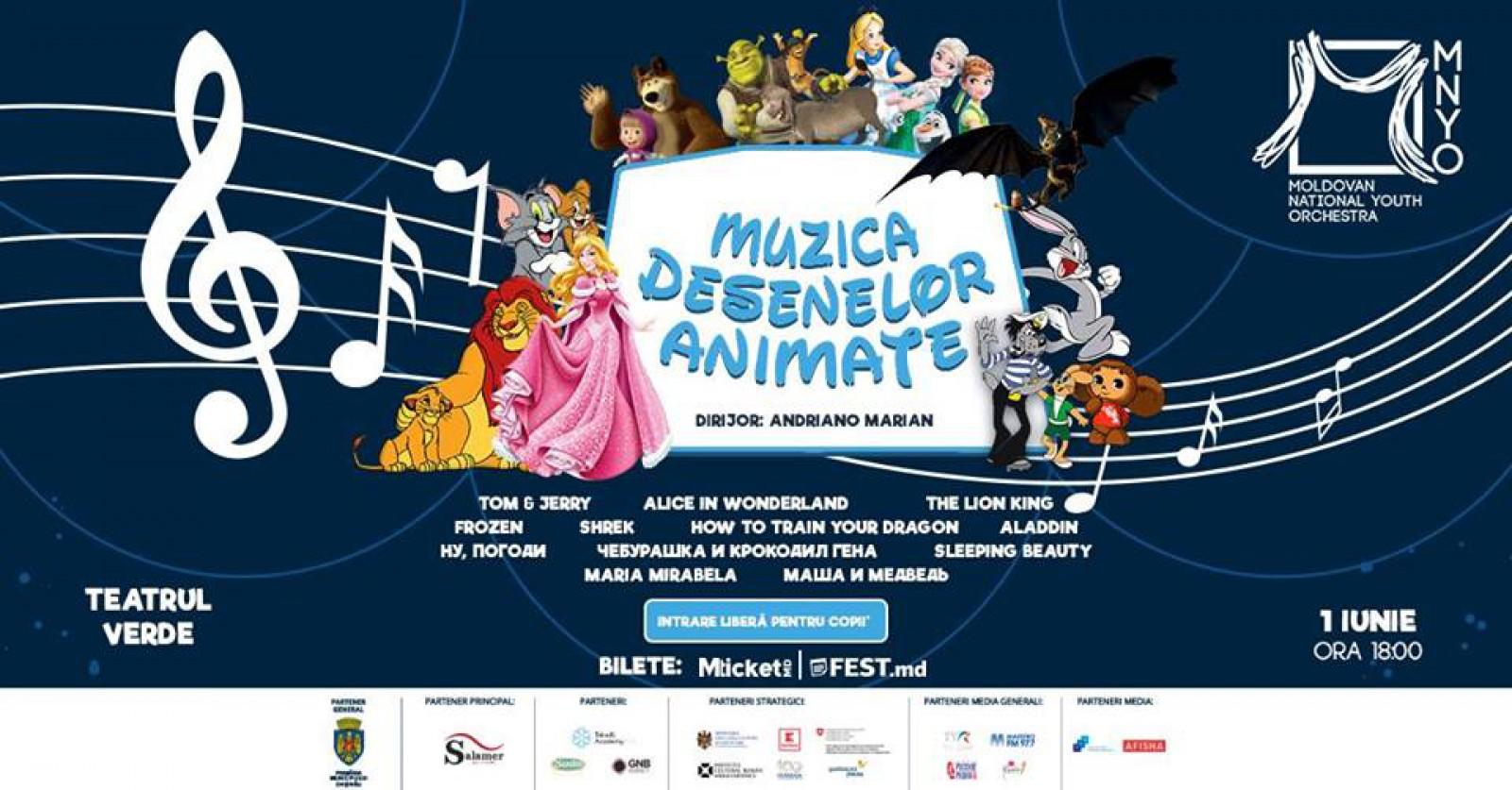 Feeria muzicii și desenelor animate se face simțită la Teatrul Verde de Ziua Internațională a Copiilor