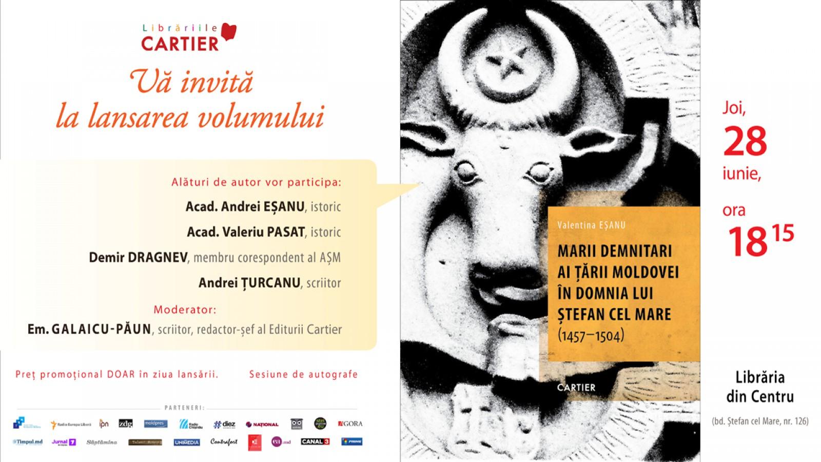 """File din istorie: Lansarea volumului """"Marii demnitari ai lui Stefan Cel Mare"""", de Valentina Eșanu"""