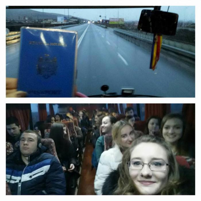 (foto, video) Condițiile meteo nefavorabile nu-i împiedică pe studenții din Alba-Iulia să meargă la vot: În drum spre Cluj-Napoca