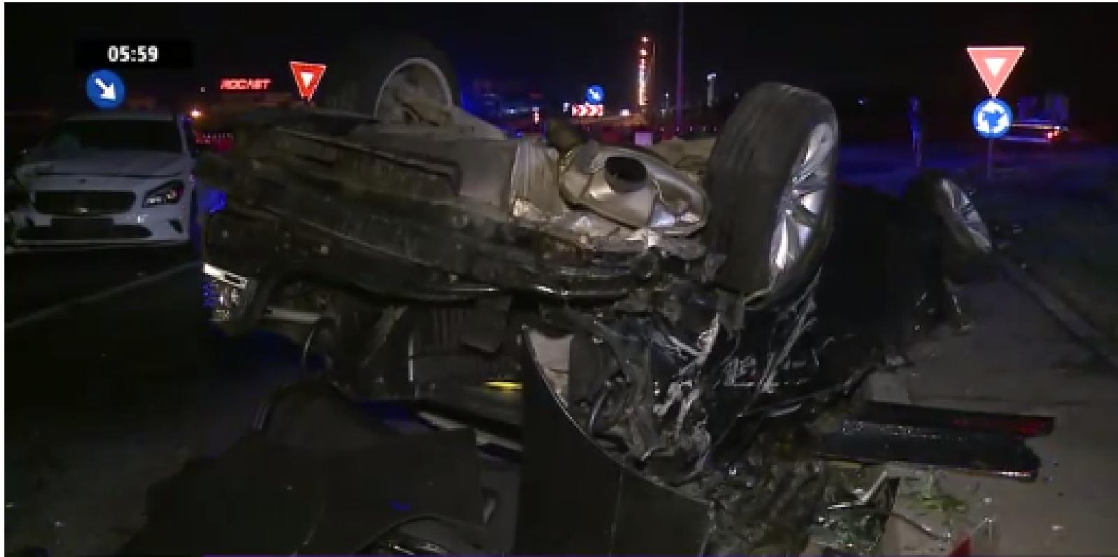 (foto) Șoferul unei mașini înmatriculate în Republica Moldova, căutat de autoritățile române: A provocat un accident grav la București și a fugit de la fața locului