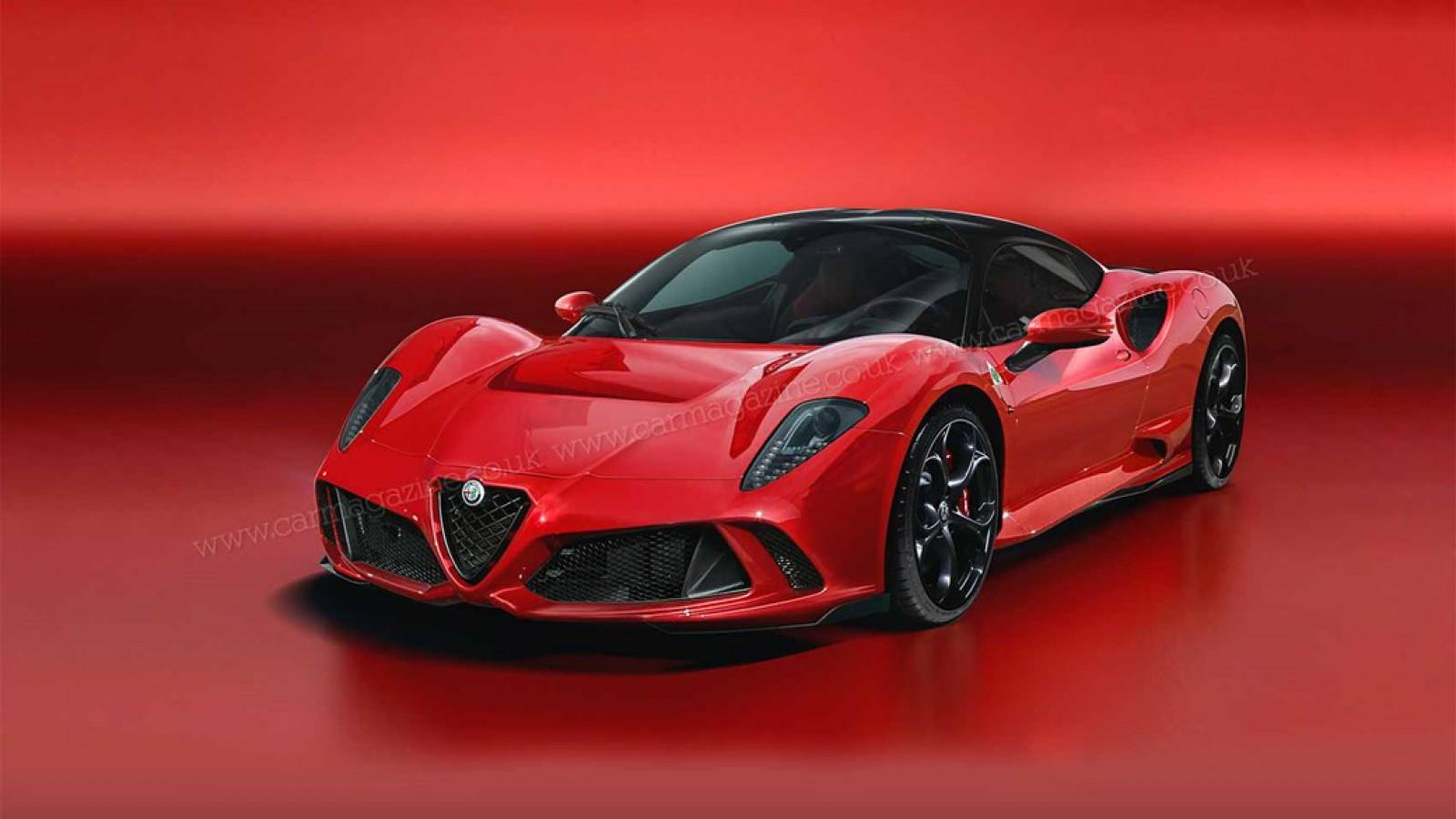 (foto) Alfa Romeo construiește urmaşul modelului 8C Competizione, dar şi noul GTV