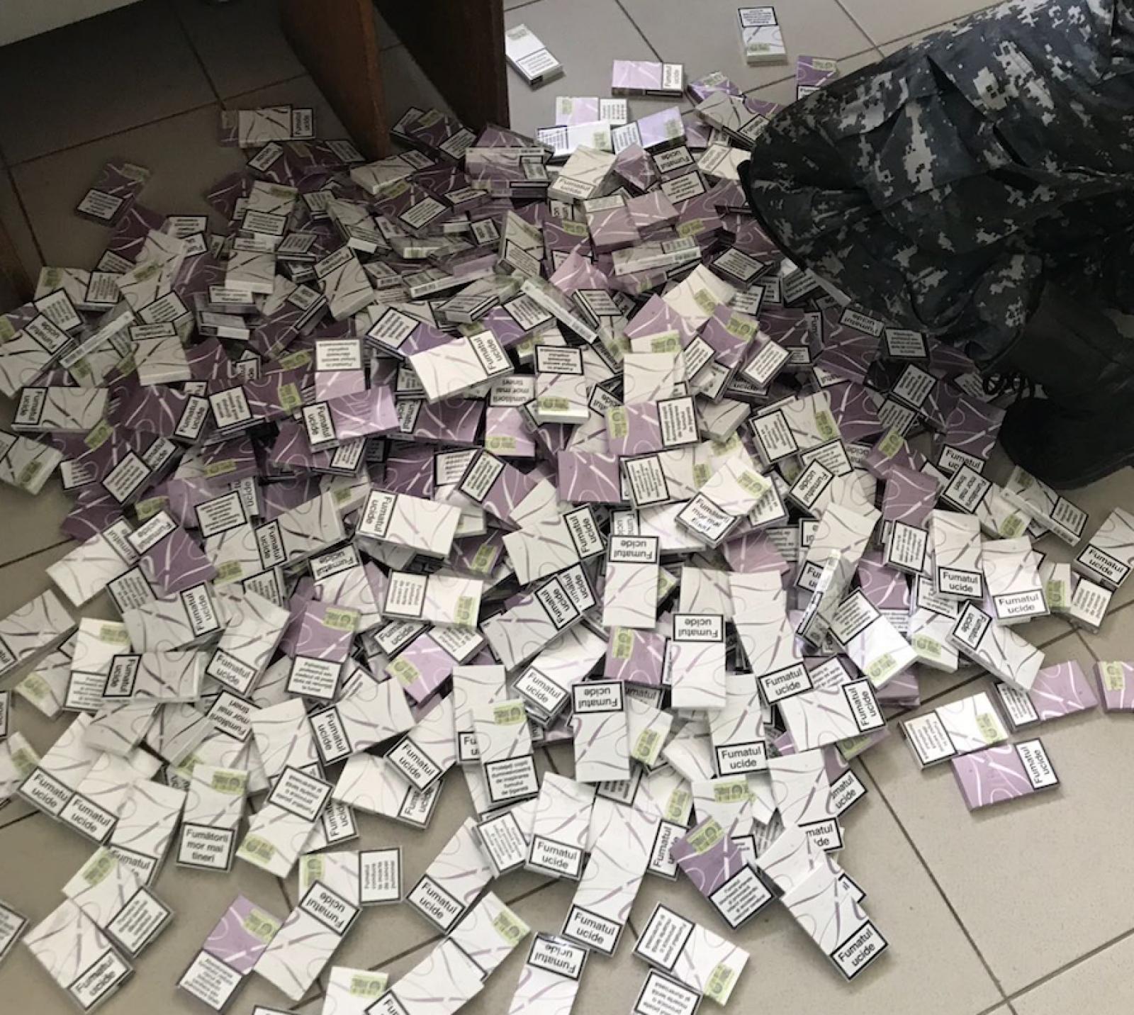 (foto) Circa 30 de mii de țigarete, reținute la vamă în ultimele 24 de ore