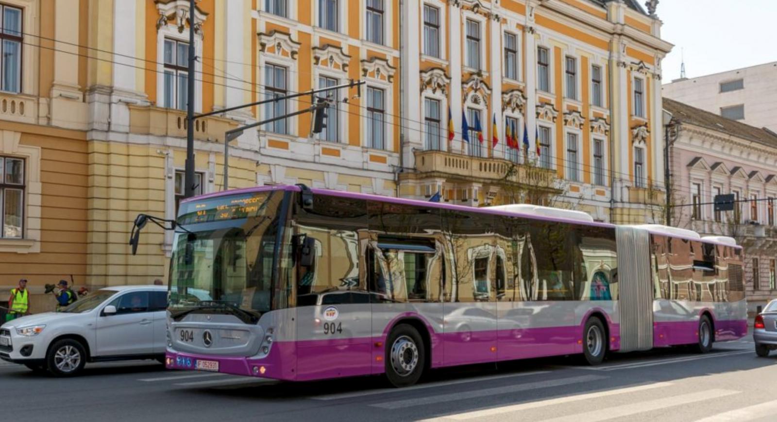 (foto) Autobuze noi în Cluj-Napoca: Sunt dotate cu aer condiționat, camere video și facilități pentru persoane cu dizabilități