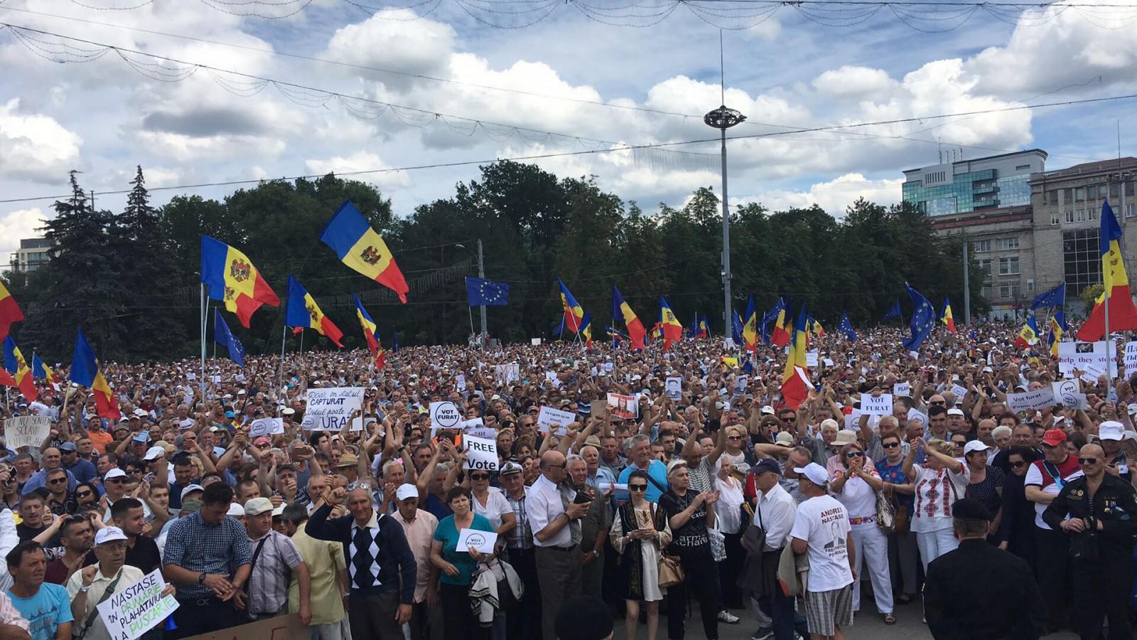 (foto) De invidiat: Cum a rămas PMAN după protestul opoziției